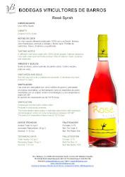 Vino Rosado Rosé Syrah