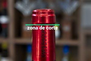 zona de corte capsula del vino